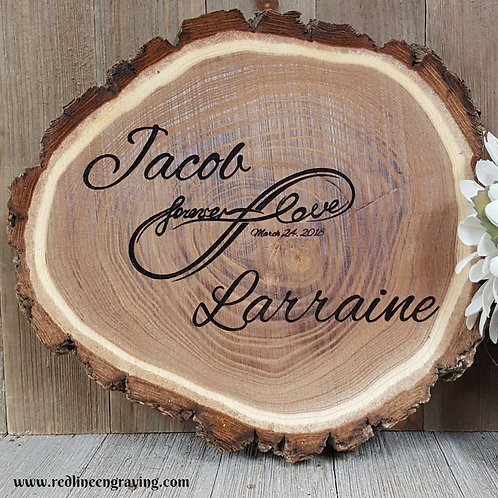 Forever Love Wood Slice Wall Hanging