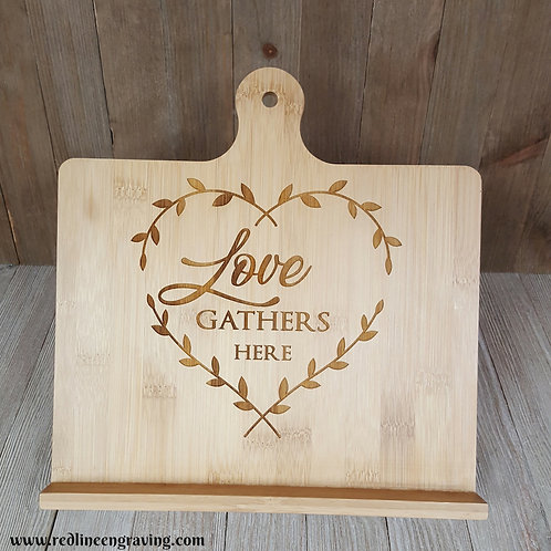 Love Gathers Here Recipe Stand