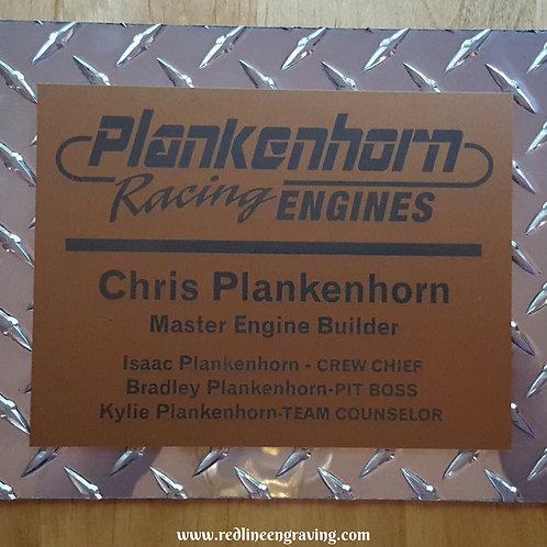 Custom Diamond Plate Metal Shop Sign