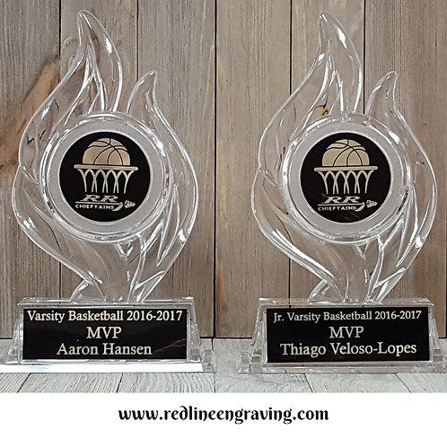 """Acrylic Flame Trophy-7"""""""