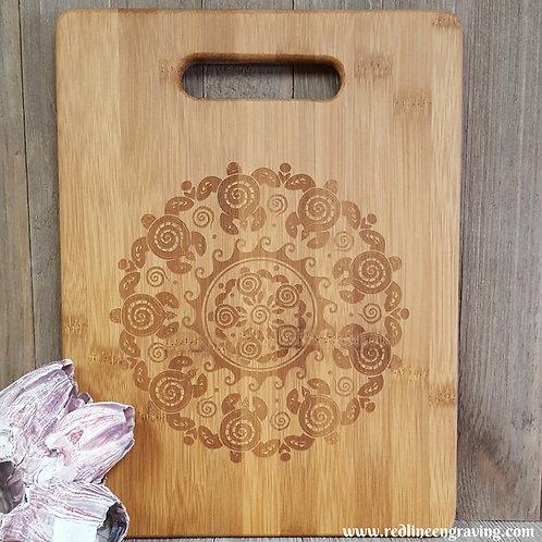 Turtle- Bamboo Cutting Board