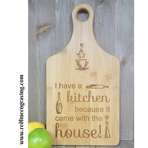 Kitchen Came With the House Bamboo Cutting Board