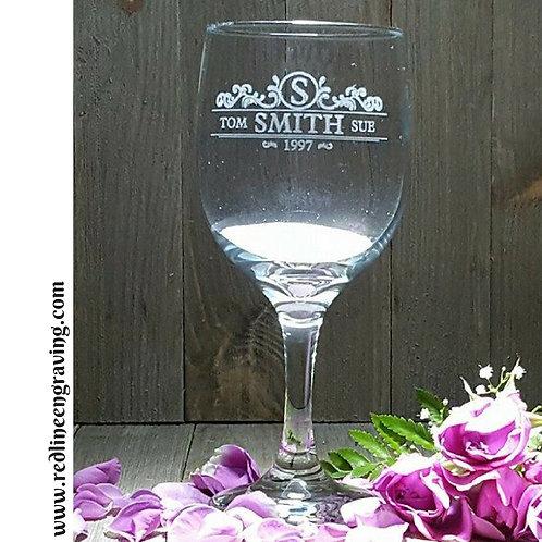 Set of 4 White Wine Glasses