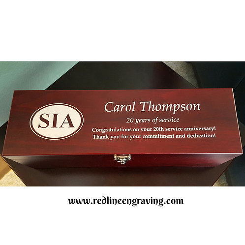 Rosewood Wine Gift Box -Color Filled (wine not included)