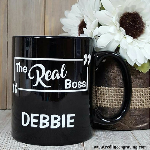 """The Real Boss"" Coffee Mug"