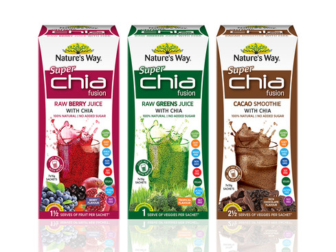 Nature's Way Chia Fusion Packaging