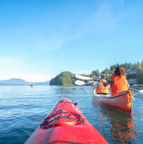 Kayakers in Clayoquot Sound