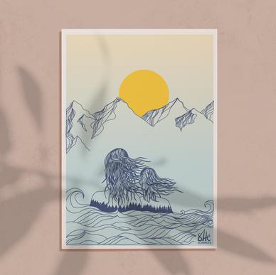custom digital illustration for fundraising