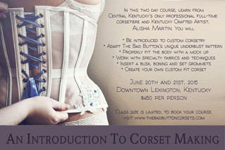 New corsetry workshop in June!