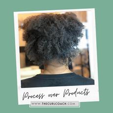 Dehydrated Kinky Textured Hair