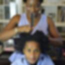 Natural Curly hair care home visits mobi