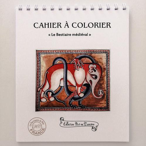 Cahier de coloriage «Le Bestiaire médiéval»