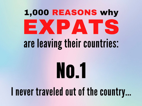 Never traveled to another country ...
