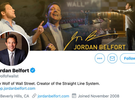 Who is Jordan Belfort aka @wolfofwallst