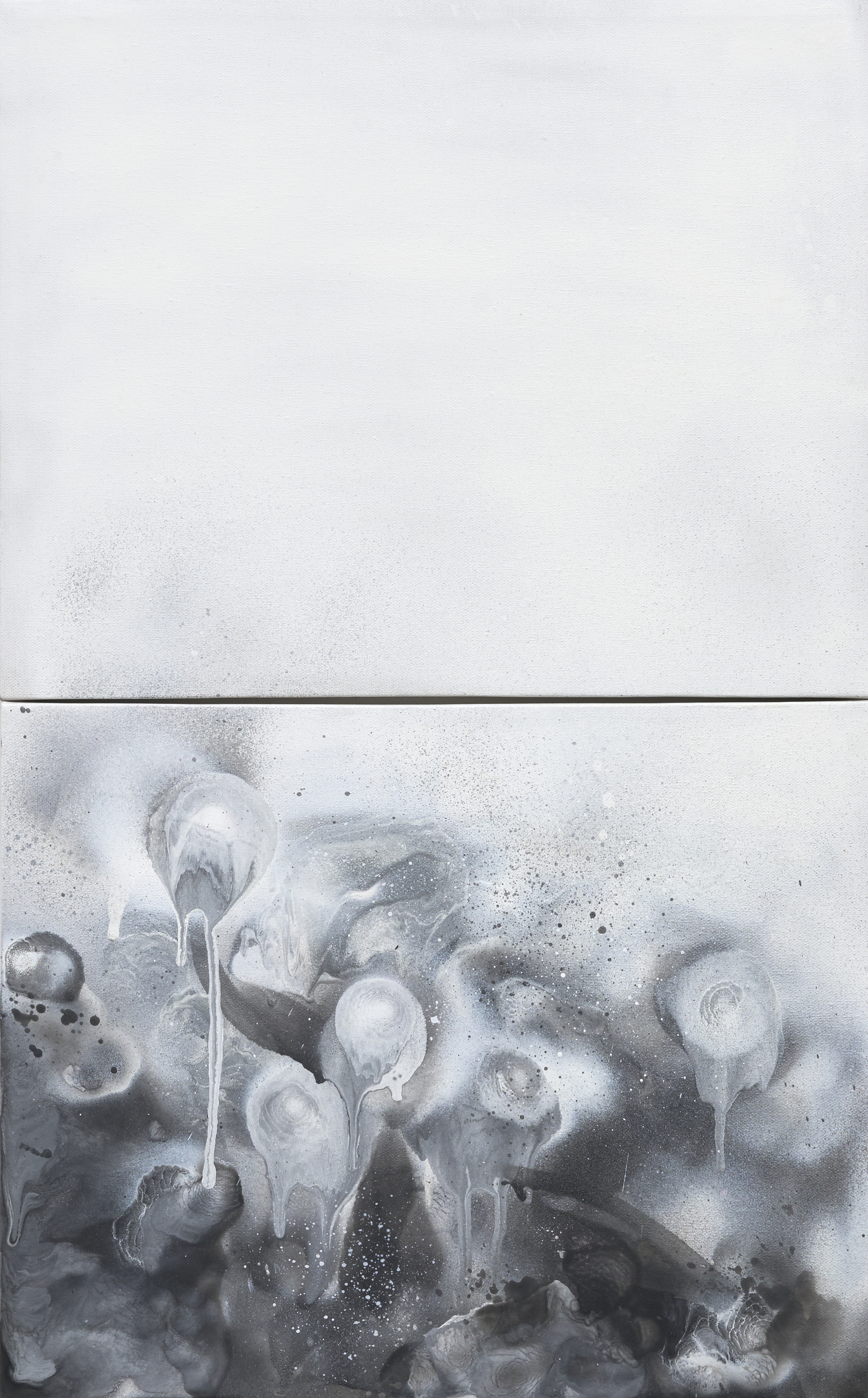 3.4 Ascension  Spray on Canvas 80 x 50cm $ 29000
