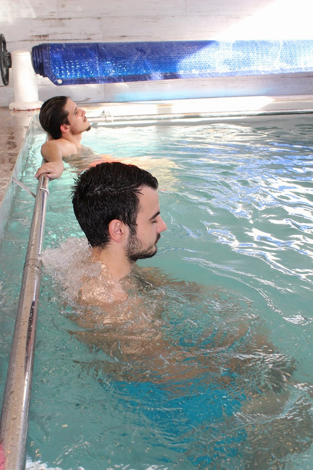 piscine à jets