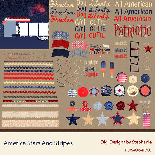 America Stars And Stripes