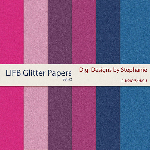 LIFB-Glitter Papers Pack Set #2