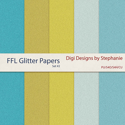 FFL-Glitter Papers Pack Set #2