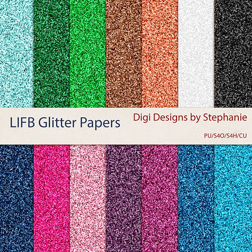 LIFB-Glitter Papers Pack