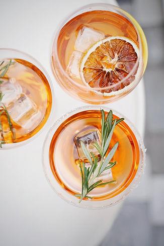 Exotic cocktails available at Cuisine Afrique