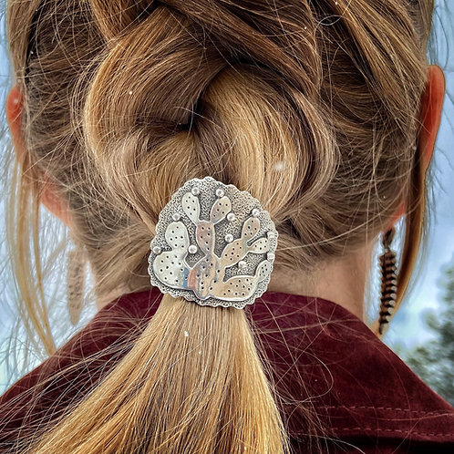 Prickly Pear Hair Concho