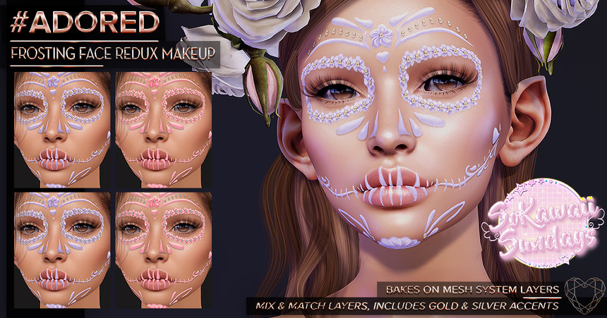 #ADORED - Frosting Face Redux Makeup