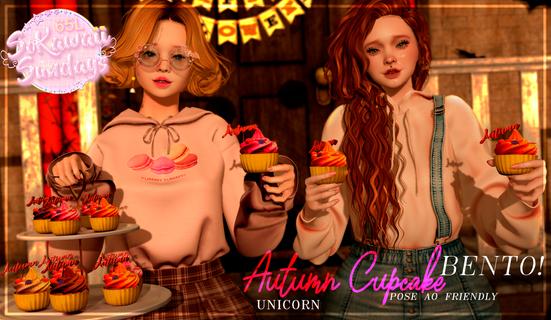 Unicorn - Autumn CupCake Pose & Prop