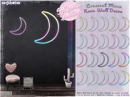Bubble - Crescent Moon Neon Wall Decor