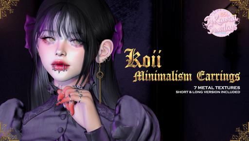 +koii+ minimalism earrings (SoKawaiiSund