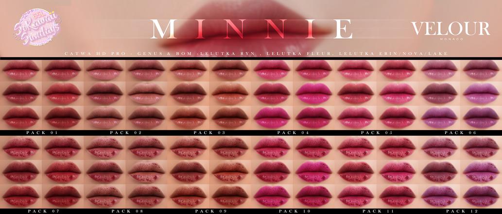 VELOUR - Minnie Lipstick Collection