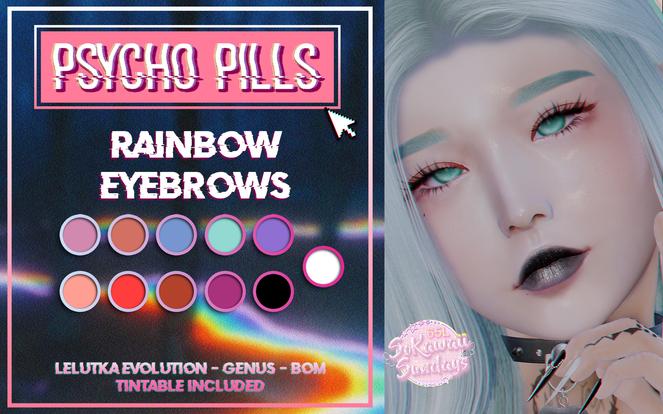 Psycho Pills - Rainbow Eyebrows (SoKawai