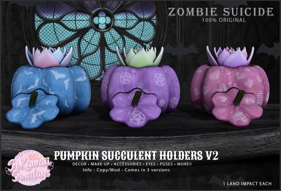 Zombie suicide - Pumpkin Succulent Hold
