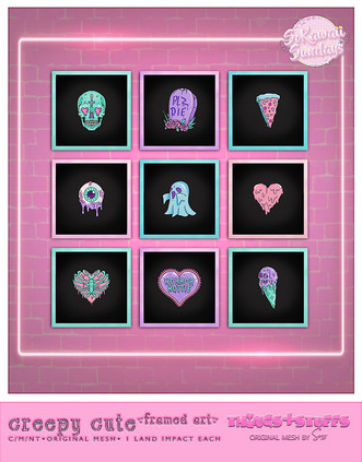 Things&stuffs - Creepy Cute Framed Art