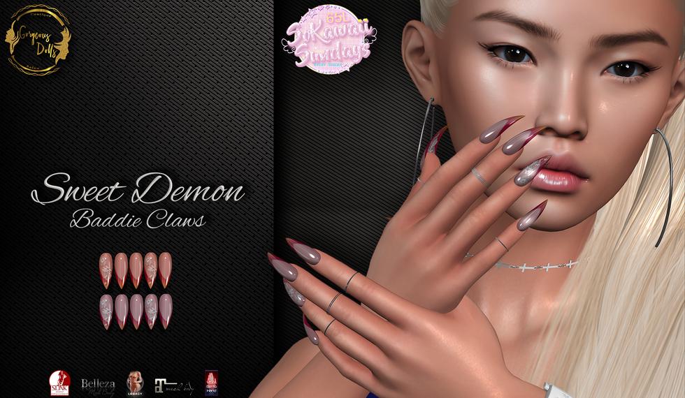 Gorgeous Dolls - Sweet Demon Baddie Claws