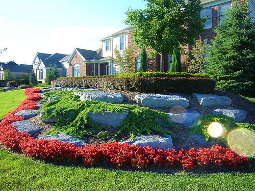 Am Landscaping Services include,rock ,topsoil,design planting,tree trimming,natural stone boulders,lawn seeding,landscape lighting,maintenance