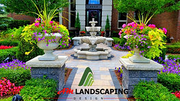 Am Landscaping offers desing for front entrance,brick paver,brick pillars,in rochester hill, michigan, Macomb Michigan