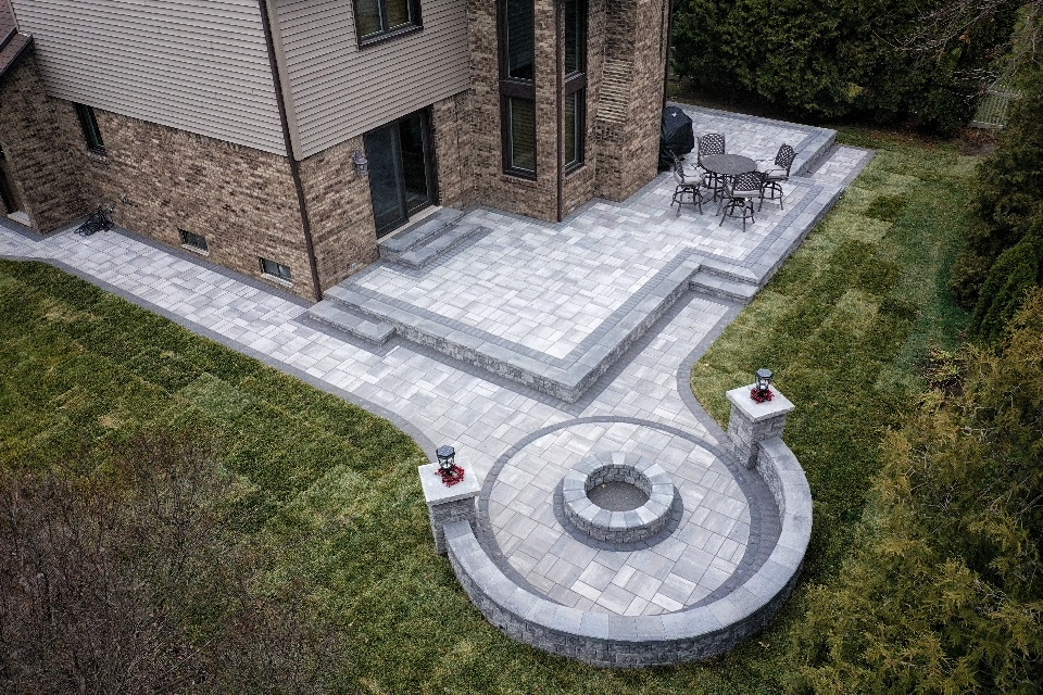 Brick Paver Patio/Fire-Pit Area