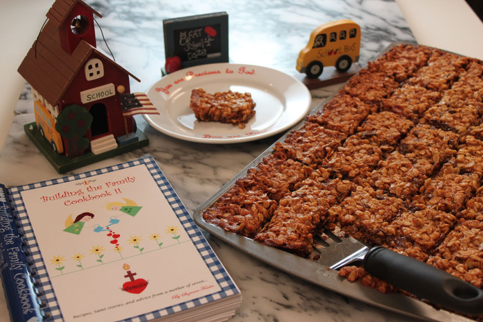 From the New Building the Family II Cookbook! St. John the Baptist Granola Bars