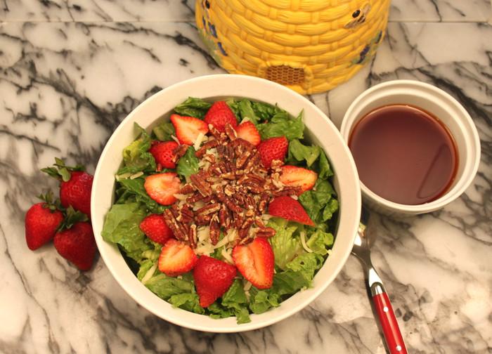 Saint Father Serra Strawberry Salad