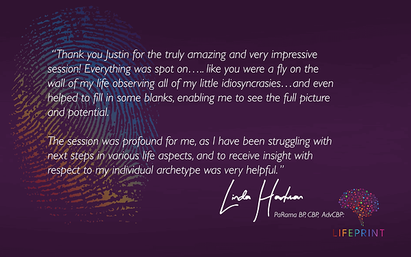 Facebook LifePrint Testimonial Image with Text Justin Furness Connectiv Leadership