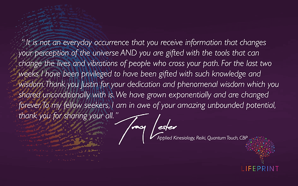 Facebook LifePrint Testimonial Image with Text Justin Furness Connectiv Leadership