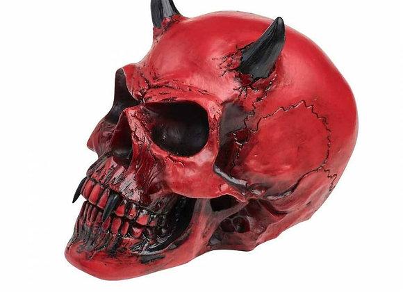 Crimson Demon Skull (15cm)