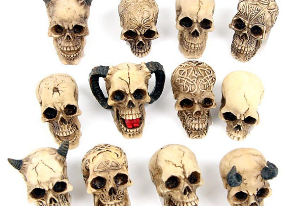 Skull World Pieces set of 12 (2-5 cm)