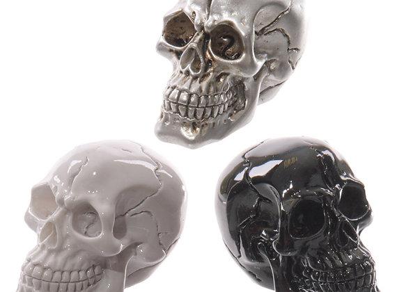 Mini Skull  Black / White / Silver (3,5 cm)