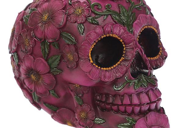 Pink Flower Skull (15cm)
