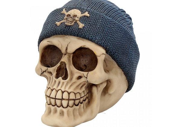 Skull beanie blue (17 cm)