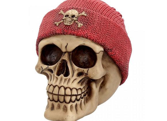 Skull Beanie Red (15cm)