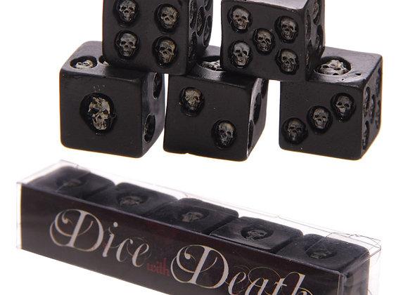 Dice of Death skulls 5pc (1x1cm)