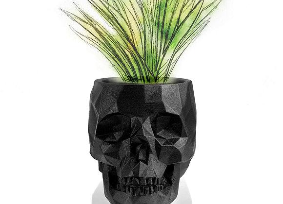 Zwart Metallic Skull Bloempot (21cm)